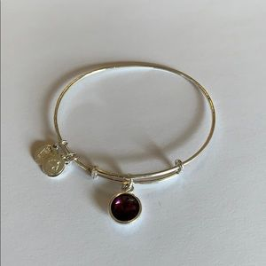 Alex and Ani Amethyst bracelet